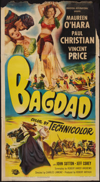 "Bagdad (Universal International, 1949). Three Sheet (41"" X 74.5""). Adventure"