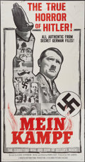 "Movie Posters:Documentary, Mein Kampf (Columbia, 1960). Three Sheet (41"" X 79.5""). Documentary.. ..."