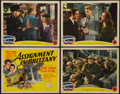 "Movie Posters:War, Assignment in Brittany and Other Lot (MGM, 1943). Title Lobby Cardand Lobby Cards (6) (11"" X 14""). War.. ... (Total: 7 Items)"