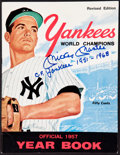 """Baseball Collectibles:Publications, Mickey Mantle """"C.F. Yankees 1951-1968"""" and Whitey Ford Signed 1957New York Yankees Yearbook...."""