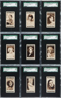 "Non-Sport Cards:Sets, 1934 Lloyd & Sons ""Cinema Stars"" Series 1 Complete Set (25) -#1 on the SGC Set Registry. ..."