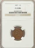 Indian Cents, 1877 1C Fine 12 Brown NGC. NGC Census: (248/1912). PCGS Population(203/1556). Mintage: 852,500. Numismedia Wsl. Price for ...