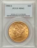 Liberty Double Eagles: , 1900-S $20 MS62 PCGS. PCGS Population (1860/928). NGC Census:(2347/770). Mintage: 2,459,500. Numismedia Wsl. Price for pro...