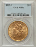 Liberty Double Eagles: , 1899-S $20 MS62 PCGS. PCGS Population (2504/1420). NGC Census:(3204/1502). Mintage: 2,010,300. Numismedia Wsl. Price for p...