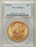 Liberty Double Eagles: , 1903-S $20 MS62 PCGS. PCGS Population (1981/1725). NGC Census:(2340/1593). Mintage: 954,000. Numismedia Wsl. Price for pro...