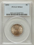 Liberty Nickels: , 1893 5C MS64 PCGS. PCGS Population (199/97). NGC Census: (175/95).Mintage: 13,370,195. Numismedia Wsl. Price for problem f...
