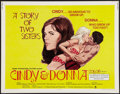 "Movie Posters:Sexploitation, Cindy and Donna (Crown International, 1970). Half Sheet (22"" X 28""). Sexploitation.. ..."