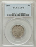 Liberty Nickels: , 1894 5C XF45 PCGS. PCGS Population (14/400). NGC Census: (4/267).Mintage: 5,413,132. Numismedia Wsl. Price for problem fre...