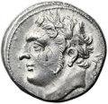 Ancients:Greek, Ancients: ZEUGITANIA. Carthage. Time of Hannibal Barca (ca. 221-201BC). AR shekel (23mm, 6.64 gm, 12h)....
