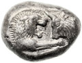 Ancients:Greek, Ancients: Croesus (ca. 560-546 BC). AR stater / double-siglos(20mm, 10.53 gm)....