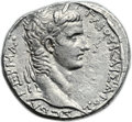 Ancients:Roman Provincial , Ancients: Antioch. Caligula (AD 37-41), with Agrippina Senior. ARtetradrachm (26mm, 15.19 gm, 12h)....