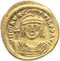 Ancients:Byzantine, Ancients: Maurice Tiberius (582-602). AV solidus (21.5mm, 4.46 gm,6h)....