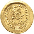 Ancients:Byzantine, Ancients: Justinian I the Great (AD 527-565). AV solidus (21mm,4.26 gm, 6h)....