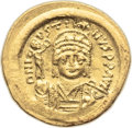 Ancients:Byzantine, Ancients: Justin II (AD 565-578). AV light-weight solidus (of 22siliquae) (21mm, 4.04 gm, 6h)....
