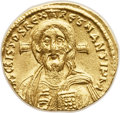 Ancients:Byzantine, Ancients: Justinian II (first reign, AD 685-695). AV solidus (20mm,4.37 gm, 6h). ...