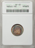Bust Dimes, 1823/2 10C XF45 ANACS. NGC Census: (2/70). PCGS Population (3/53).Mintage: 440,000. Numismedia Wsl. Price for problem free...