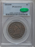 Large Cents: , 1810/09 1C Fine 12 PCGS CAC. PCGS Population (8/59). NGC Census:(1/25). Mintage: 1,458,500. Numismedia Wsl. Price for prob...