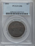 Large Cents: , 1801 1C Good 6 PCGS PCGS Population (6/103). NGC Census: (6/112).Mintage: 1,362,837. Numismedia Wsl. Price for problem fre...