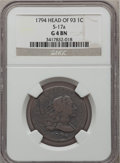 Large Cents, 1794 1C Head of 1793 Good 4 NGC. S-17a, B-1a, R.5....