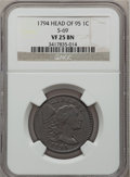 Large Cents, 1794 1C Head of 1795 VF25 NGC. S-69, B-61, R.3....