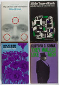 Books:Science Fiction & Fantasy, [Jerry Weist]. Clifford D. Simak. Group of Four First Edition Books. Doubleday, 1962-1967. Minor wear and sunning. Very good... (Total: 4 Items)