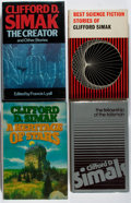 Books:Science Fiction & Fantasy, [Jerry Weist]. Clifford D. Simak. Group of Four First Edition Books. Various, 1967-1993. All very good or better condition.... (Total: 4 Items)