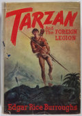 """Books:Science Fiction & Fantasy, [Jerry Weist]. Edgar Rice Burroughs. Tarzan and """"The Foreign Legion"""". Burroughs, 1947. First edition, first prin..."""