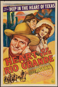 "Movie Posters:Western, Heart of the Rio Grande (Republic, 1942). One Sheet (27"" X 41""). Western.. ..."