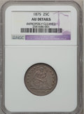 Seated Quarters: , 1875 25C -- Improperly Cleaned -- NGC Details. AU. NGC Census:(4/260). PCGS Population (10/271). Mintage: 4,293,500. Numis...
