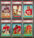 Football Cards:Lots, 1963 Topps Football PSA NM-MT 8 Collection (6). ...