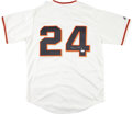 Baseball Collectibles:Uniforms, Willie Mays Signed New York Giants Jersey. ...