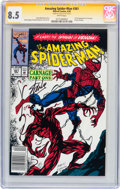 Modern Age (1980-Present):Superhero, The Amazing Spider-Man #361 Signed by Stan Lee - Signature Series(Marvel, 1992) CGC VF+ 8.5 White pages....