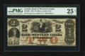 Canadian Currency: , Clifton, CW- The Bank of Western Canada $2 Sept. 20, 1859 Ch. # 795-10-08. ...