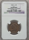 Half Cents: , 1829 1/2 C -- Improperly Cleaned -- NGC Details. XF. C-1. NGCCensus: (7/223). PCGS Population (20/221). Mintage: 487,000....