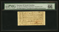 Colonial Notes:North Carolina, North Carolina December, 1771 2s6d House PMG Gem Uncirculated 66EPQ.. ...