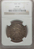 Bust Half Dollars: , 1835 50C XF40 NGC. NGC Census: (46/681). PCGS Population (101/641).Mintage: 5,352,006. Numismedia Wsl. Price for problem f...