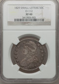 Bust Half Dollars: , 1829 50C Small Letters XF40 NGC. O-112. NGC Census: (63/925). PCGSPopulation (152/1028). Mintage: 3,712,156. Numismedia W...
