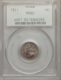 Barber Dimes: , 1911 10C MS62 PCGS. PCGS Population (139/688). NGC Census:(109/586). Mintage: 18,870,544. Numismedia Wsl. Price for proble...