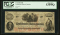 Confederate Notes:1862 Issues, Fully Framed T41 $100 1862.. ...