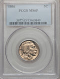 Buffalo Nickels: , 1936 5C MS65 PCGS. PCGS Population (2121/1212). NGC Census:(890/1086). Mintage: 119,001,424. Numismedia Wsl. Price for pro...