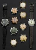 Timepieces:Watch Chains & Fobs, A Lot Of Ten Gent's Wristwatches. ... (Total: 10 Items)