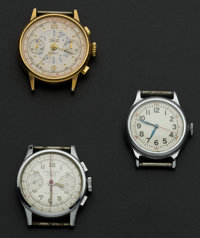 Two Chronograph's Suisse & Driva And One Wristwatch