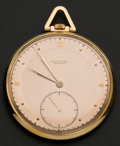 Timepieces:Pocket (post 1900), Juvenia Swiss 18k Rose Gold Pocket Watch. ...