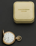 Timepieces:Pocket (post 1900), Elgin 14k Gold 7 Jewel Pocket Watch With Original Box. ...