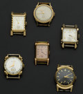 Timepieces:Watch Chains & Fobs, A Lot Of Six Gold Filled Wristwatches. ... (Total: 6 Items)