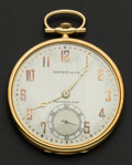 Timepieces:Pocket (post 1900), Tiffany & Co 18k Gold & Platinum Pocket Watch. ...