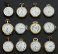 Timepieces:Pocket (post 1900), A Lot Of Twelve American & Swiss 16 Size Pocket Watches AllRunners. ... (Total: 12 Items)