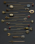 Estate Jewelry:Stick Pins and Hat Pins, A Lot Of Twenty Four Vintage Gold Stick Pins. ... (Total: 24 Items)
