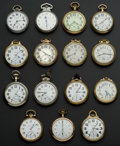 Timepieces:Pocket (post 1900), A Lot Of Fifteen Railroad Grade Pocket Watches One 23 JewelVanguard. ... (Total: 15 Items)