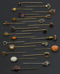 Estate Jewelry:Stick Pins and Hat Pins, A Lot Of 24 Vintage Gold Stick Pins. ... (Total: 24 Items)